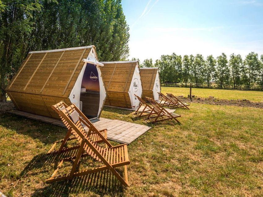Nomad: basic kamperen in uniek vormgegeven, duurzame hutten.