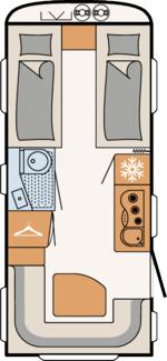 Plattegrond Dethleffs Aero 510ER