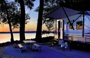 Seizoensplek op de camping