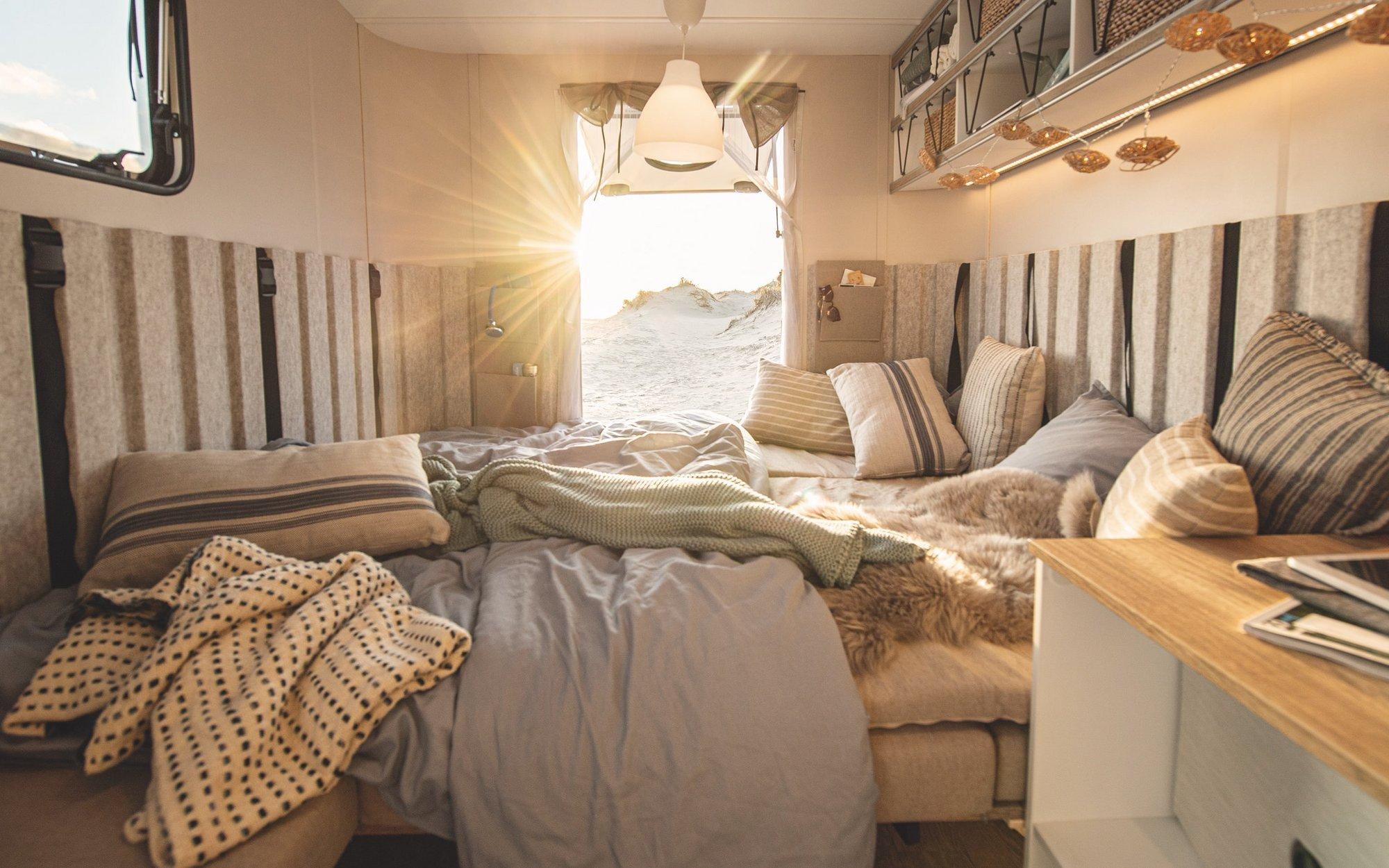 Het bed van de Hobby Beachy.