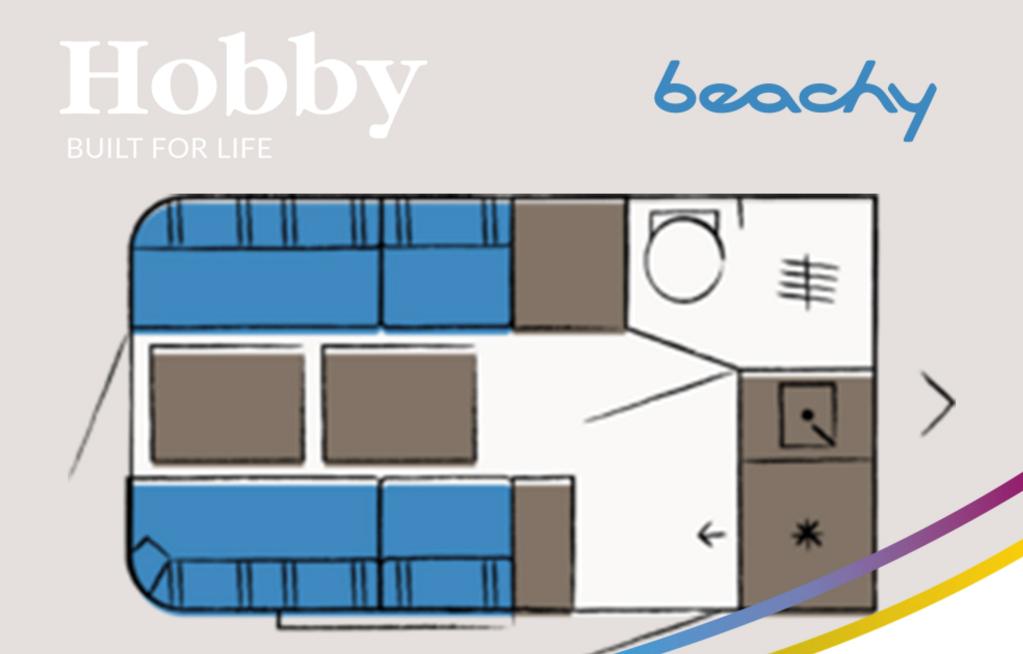 Plattegrond van de Beachy 460.